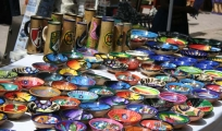 <h5>Colorful ceramics</h5><p>Dishes, cups, trays, etc.</p>