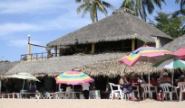 <h5>Beach-front Restaurant </h5><p>One of a handful of restaurants on the beach in Chacala - all of them are great.</p>